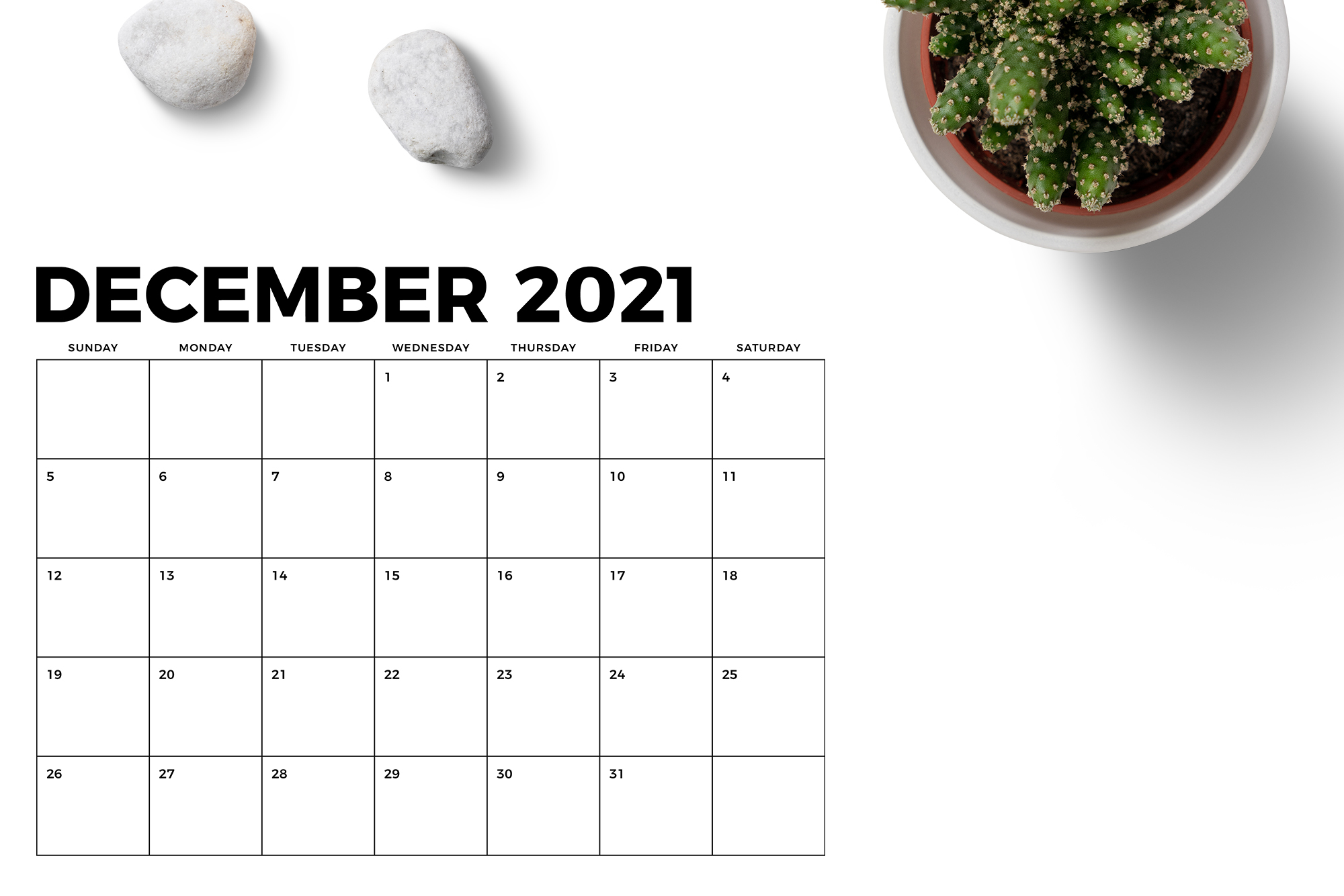 8.5 x 11 Inch Bold 2021 Calendar example image 6