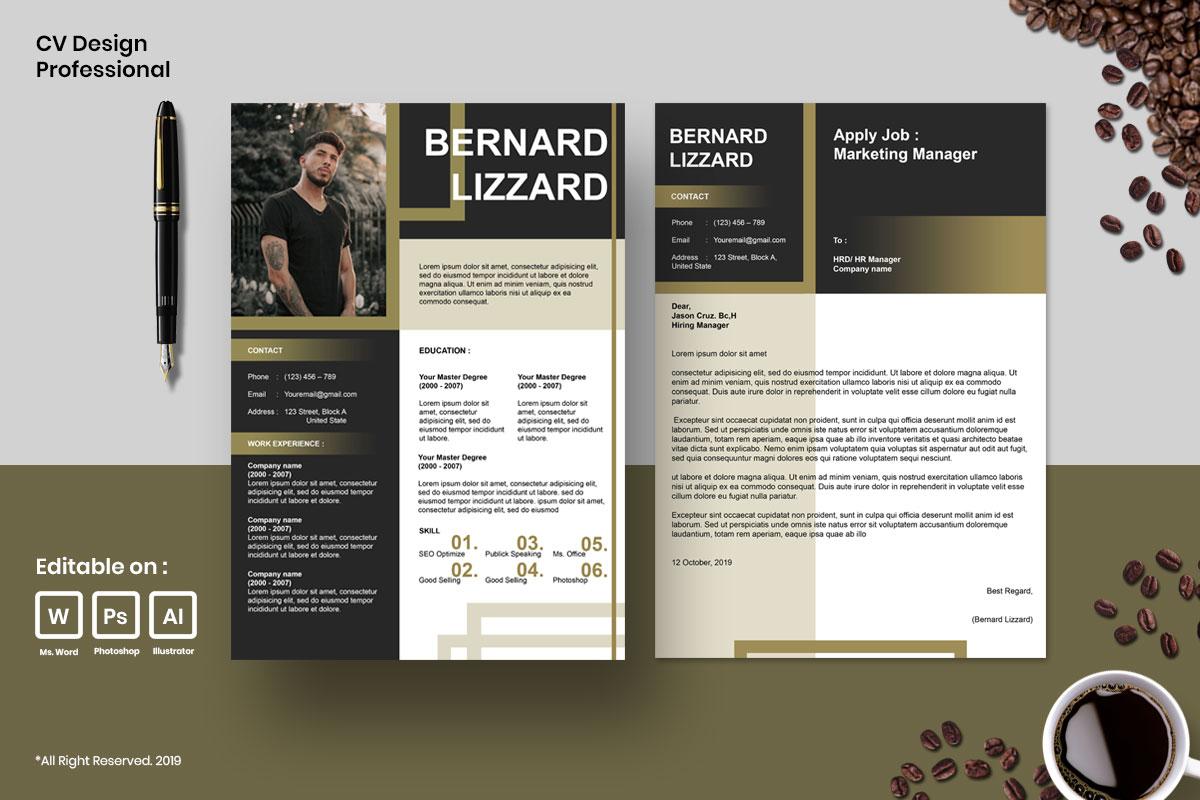 Resume Template CV Mega Bundles Professional !! example image 7