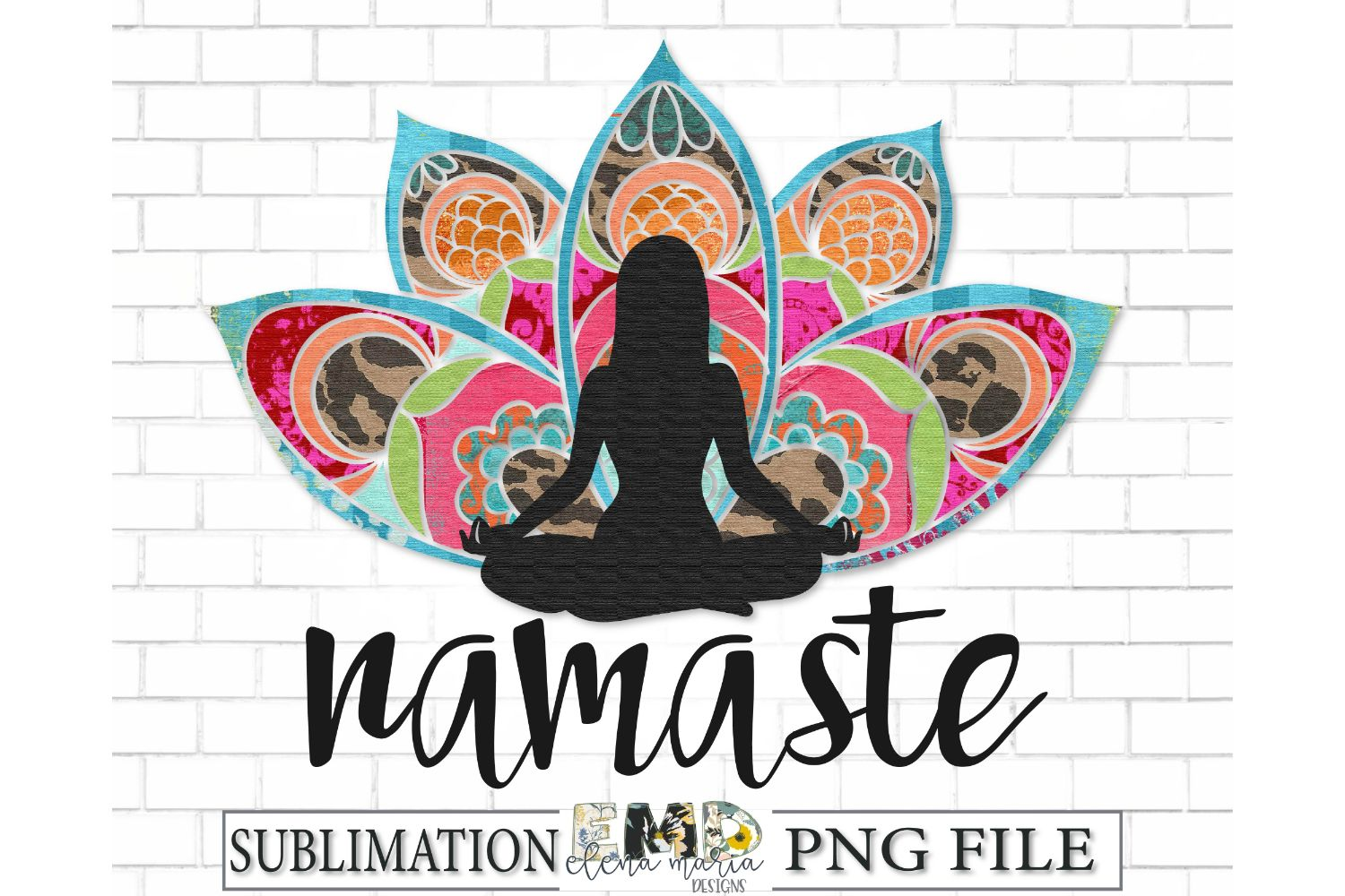 Namaste Sublimation Transfer PNG Clipart example image 2