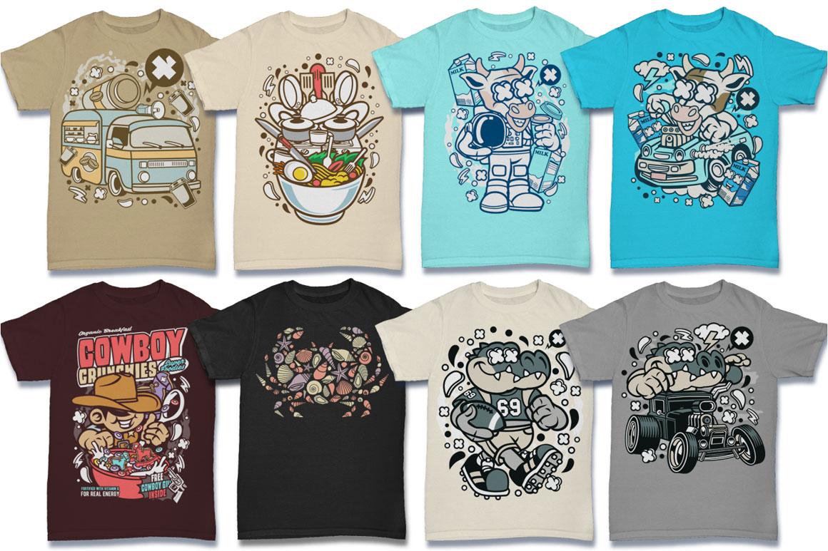 Cartoon Vector #6 Tshirt Design Bundle example image 8