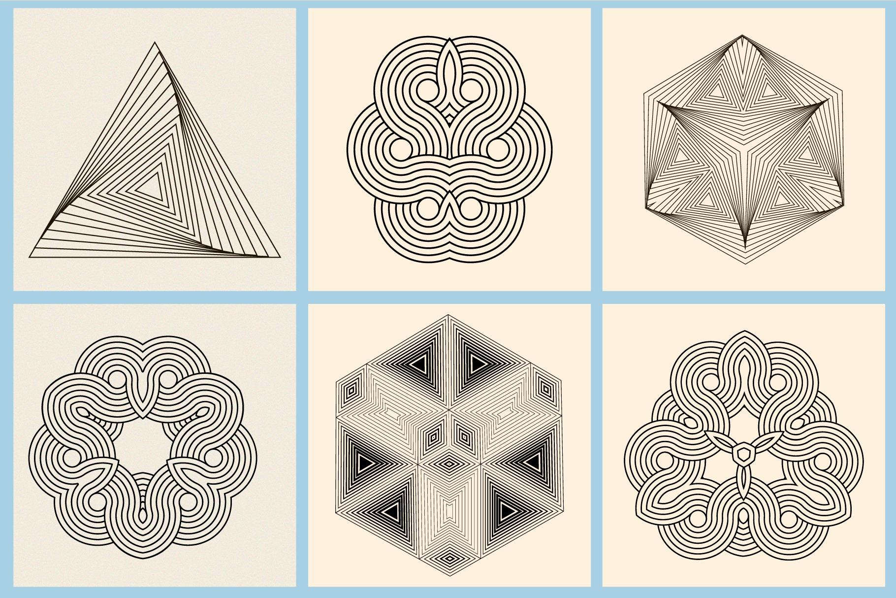 Illusion linear geometric shapes example image 12