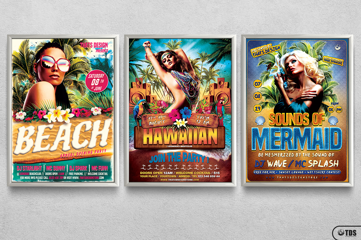 Beach Party Flyer Bundle V2 example image 11