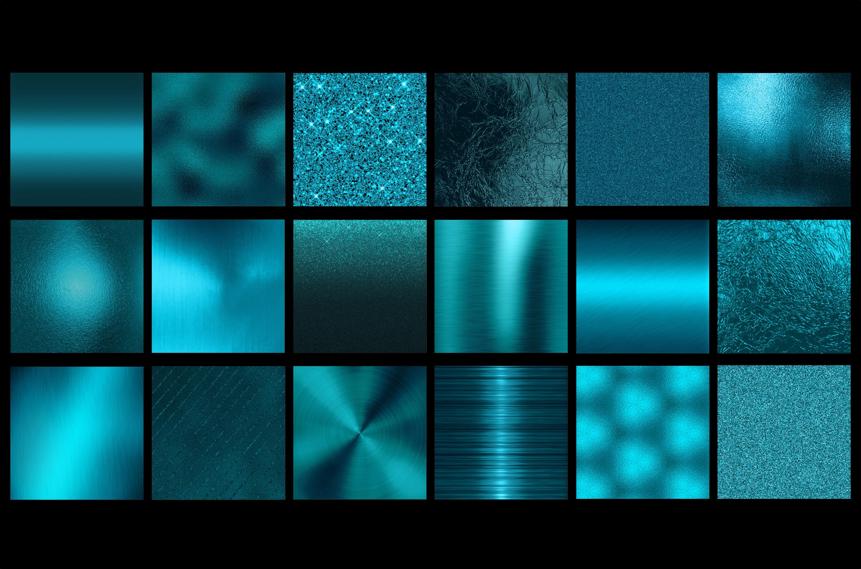 Teal metallic foil textures example image 2