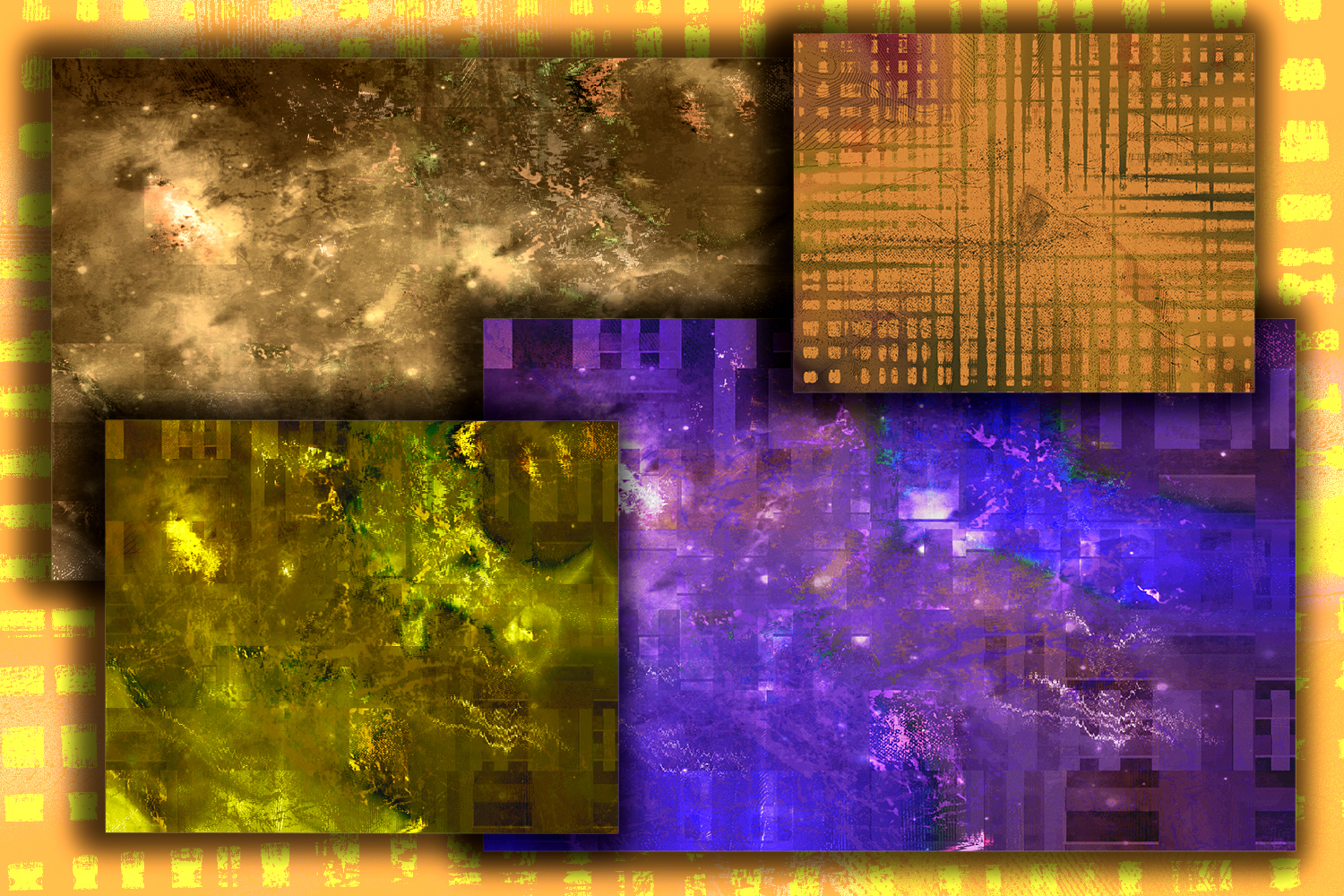15 inky Distressed Textures. Abstract grunge themes. Ink Art example image 3