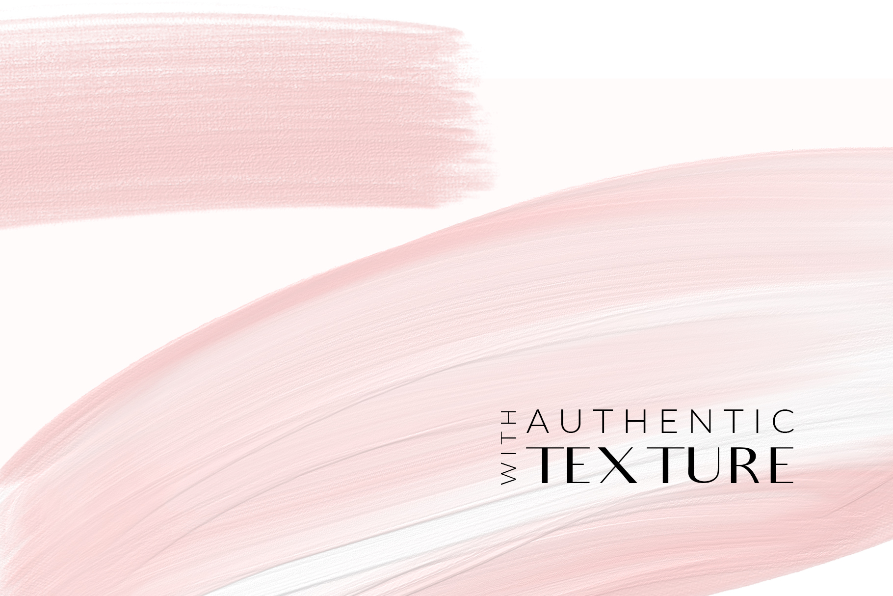 Blush Pink Brush Strokes Clipart example image 9