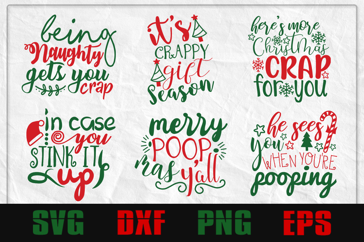 Christmas toilet paper SVG Design example image 1