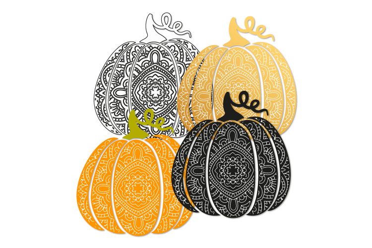 Bohemian pumpkin svg. Fancy pumpkin example image 2