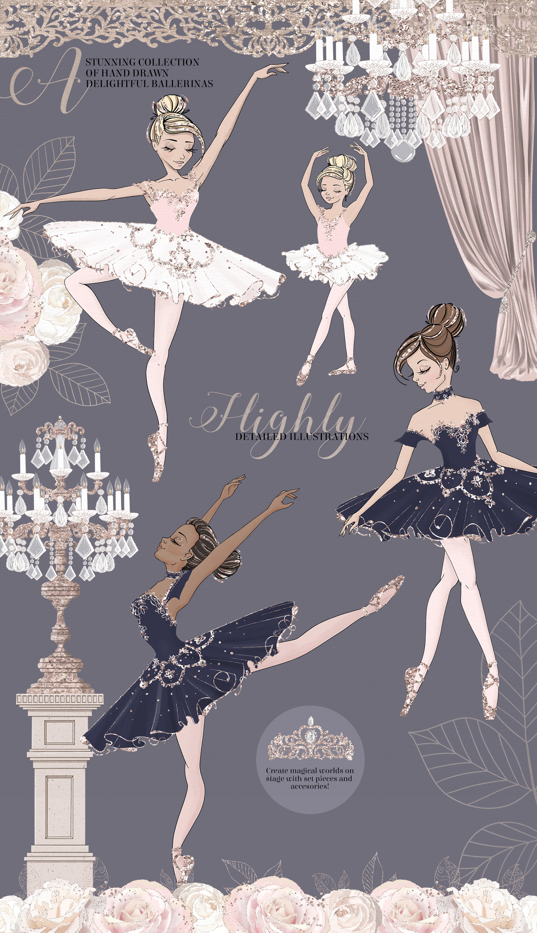 The Grand Ballerina Clipart Collection example image 2