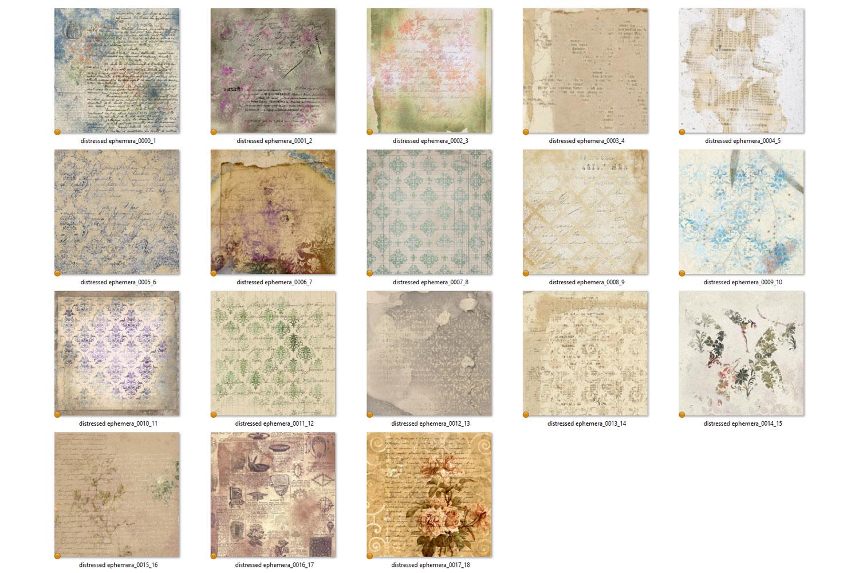Distressed Ephemera Digital Paper example image 5