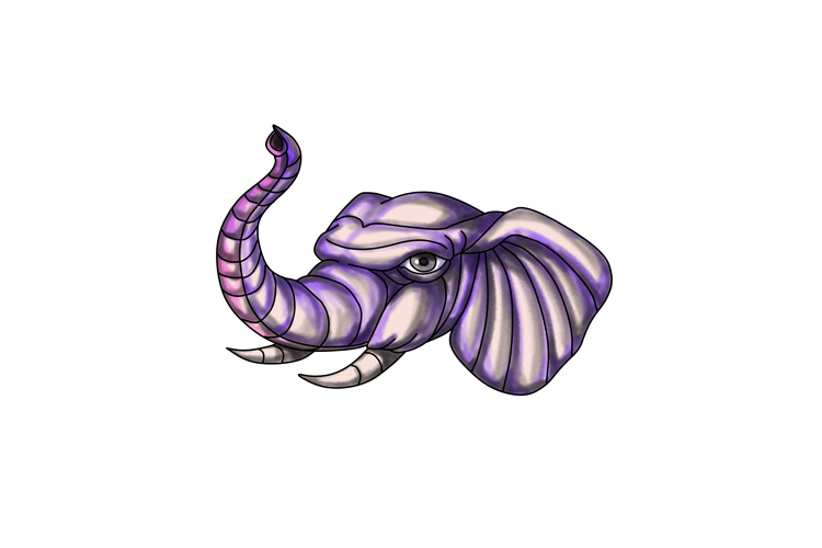 Elephant Head Trunk Tattoo example image 1