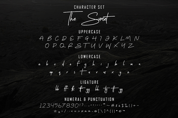 The Sunset Script Font example image 12