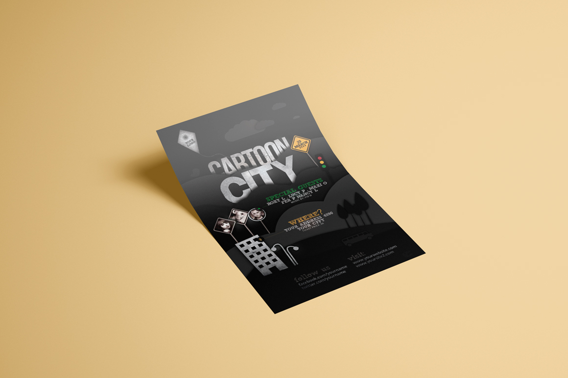 Cartoon City Flyer Template example image 2