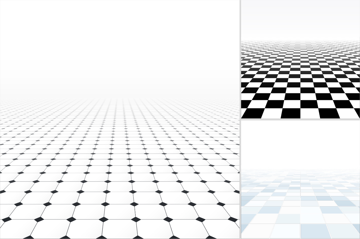 Tiled floor with perspective. example image 6
