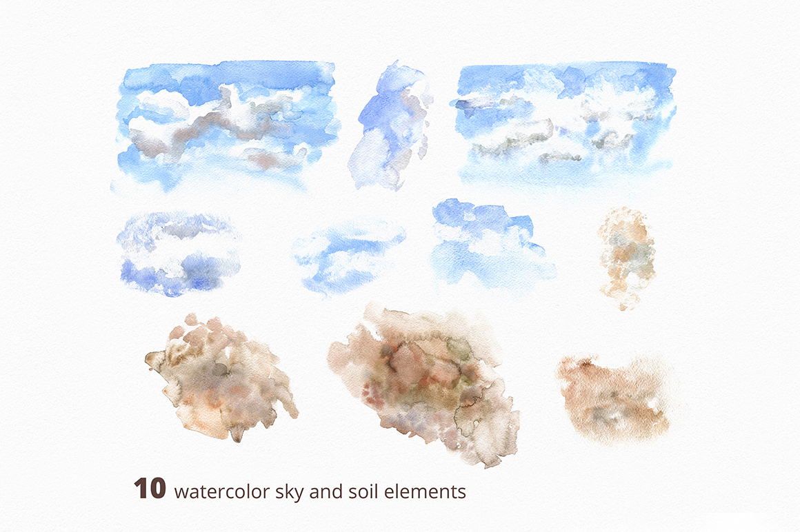 After Snow. Watercolor collection. example image 15