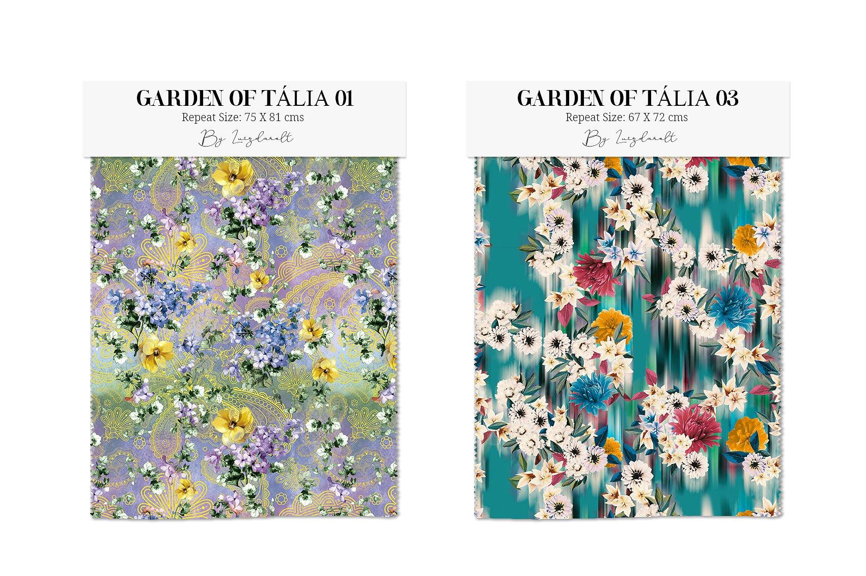 Garden of Eden Flowers Patterns clipArt example image 2