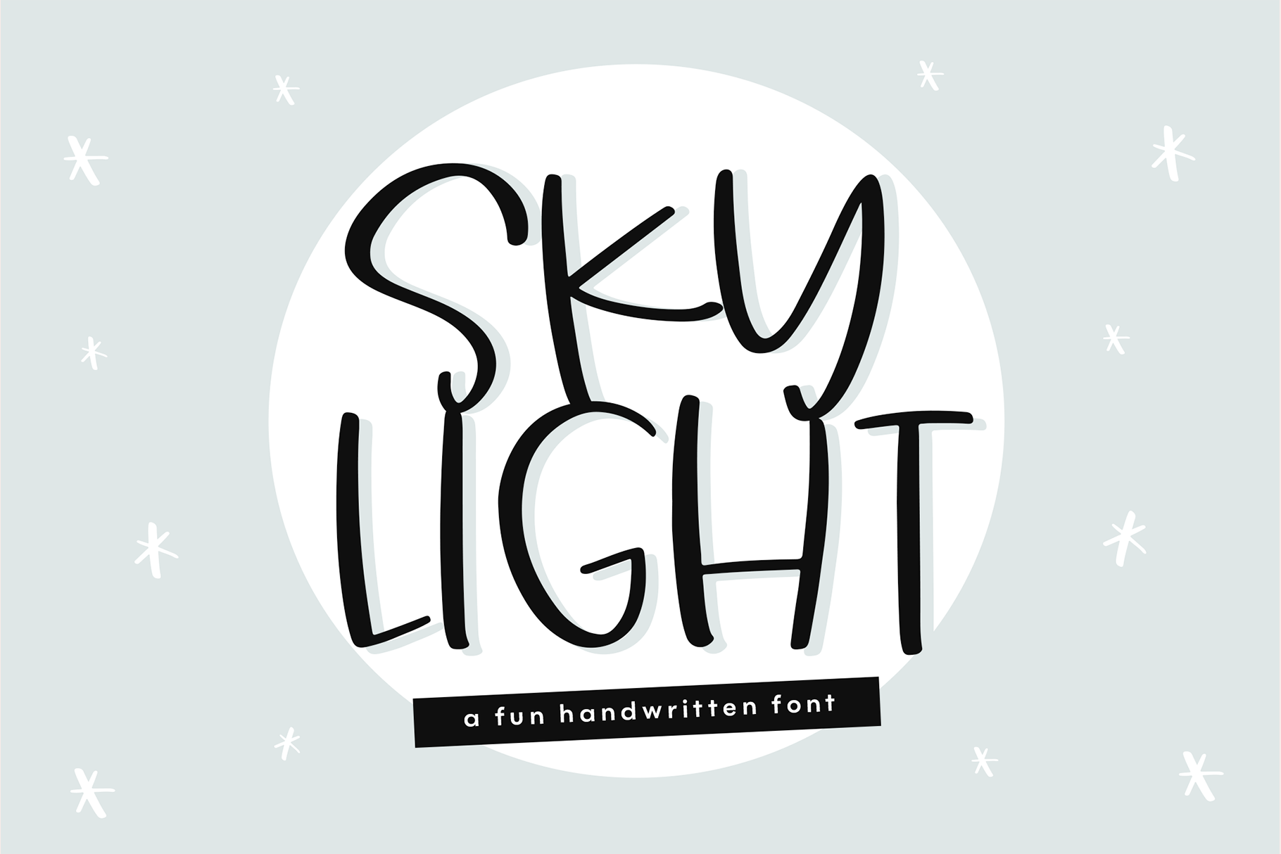 Sky Light - A Quirky Handwritten Font example image 1