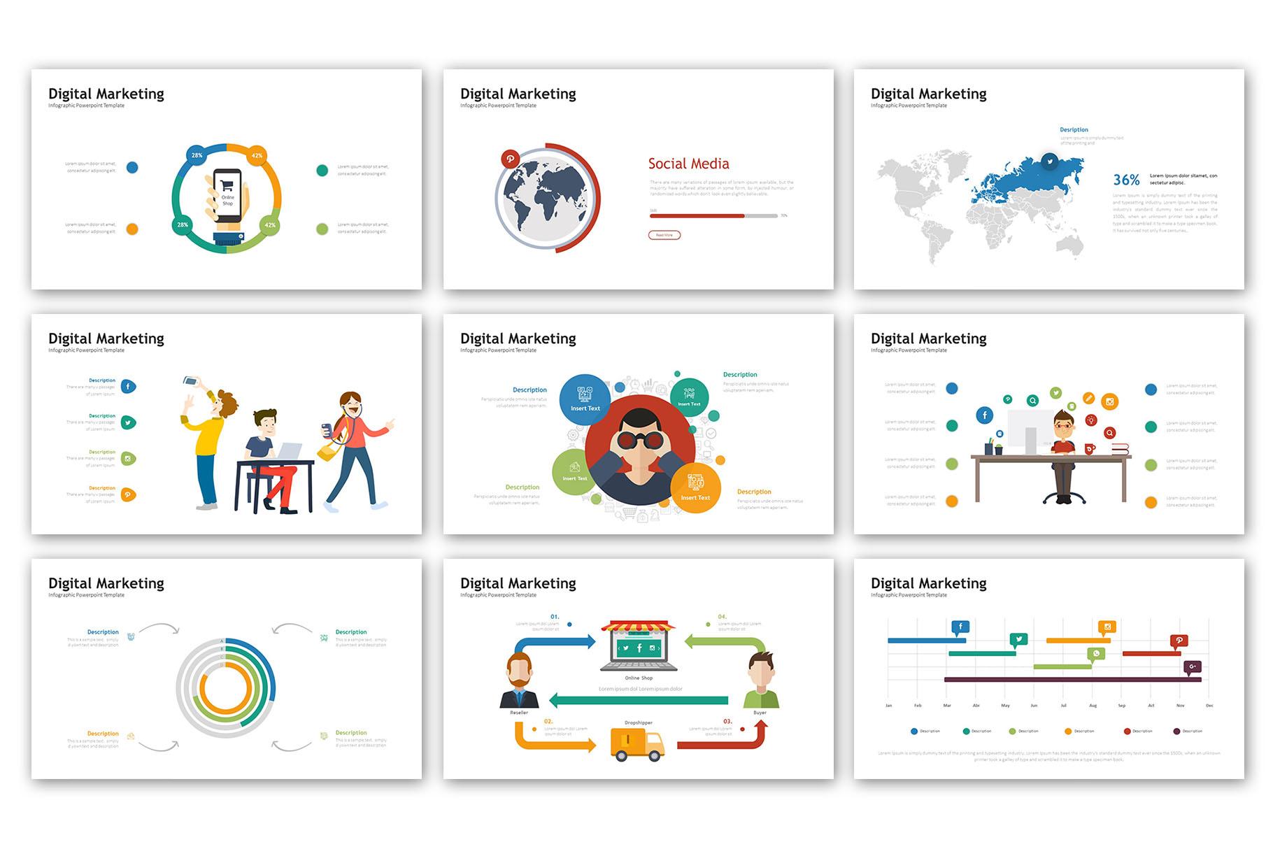 Digital Marketing Presentation - Infographic Template example image 3