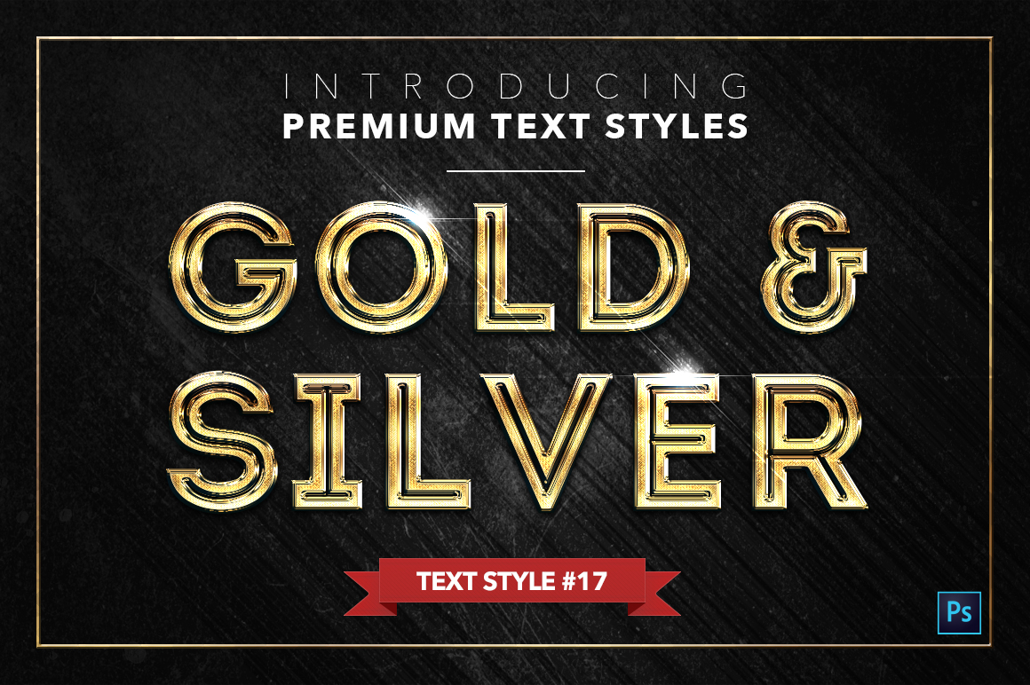 Gold & Silver #2 - 20 Text Styles example image 8