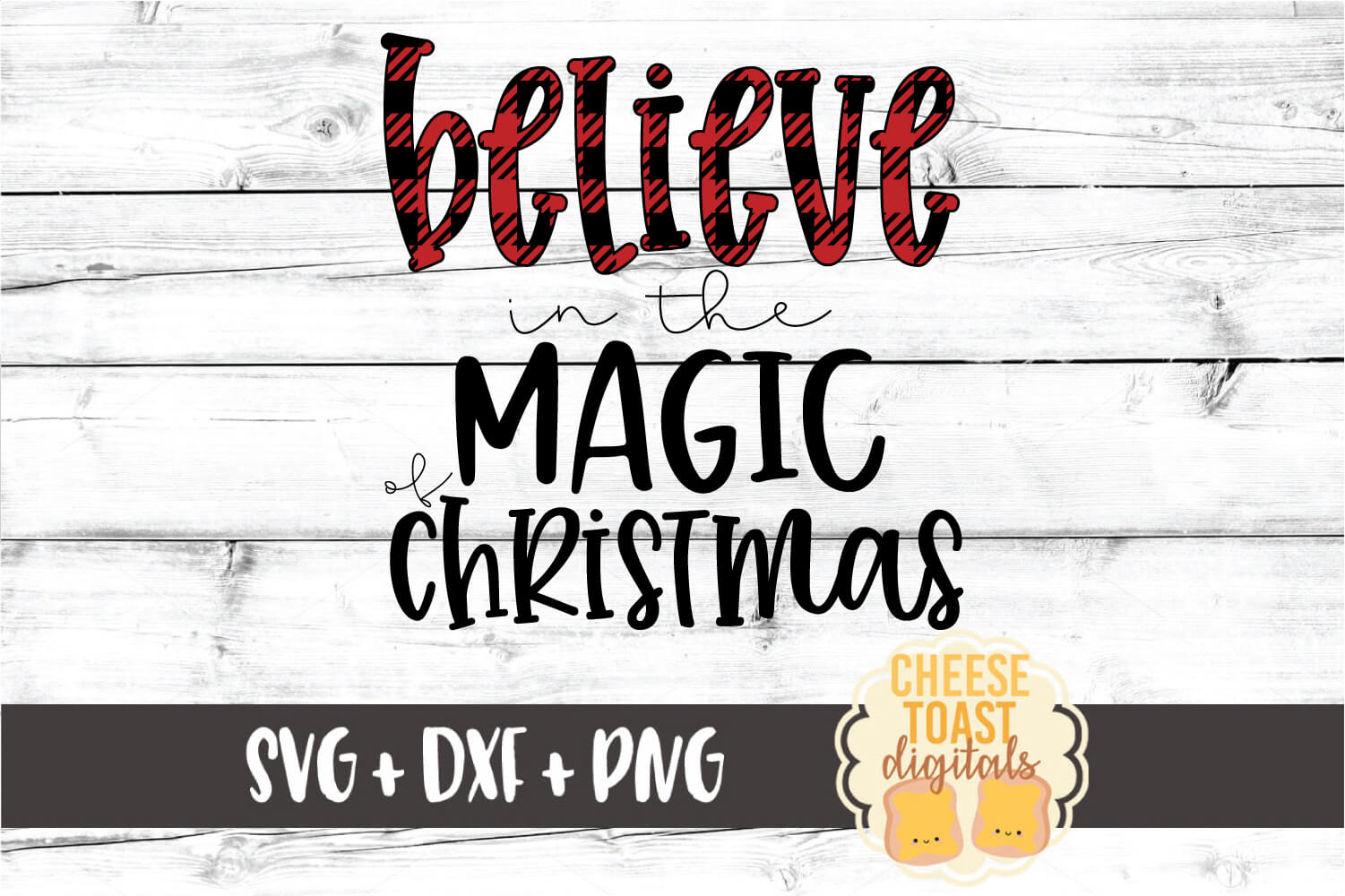 Believe In The Magic of Christmas SVG PNG DXF Cut Files example image 2
