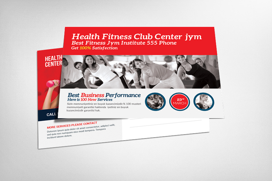 Fitness Postcard Psd example image 1
