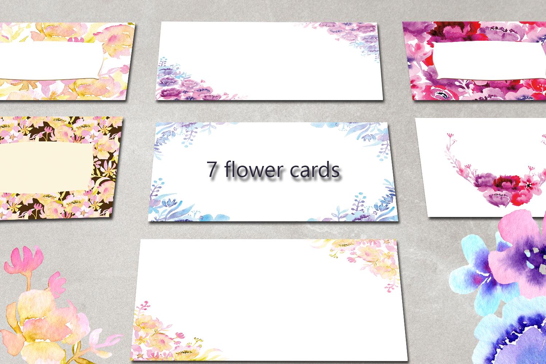 Flower garden Watercolor Clipart example image 5