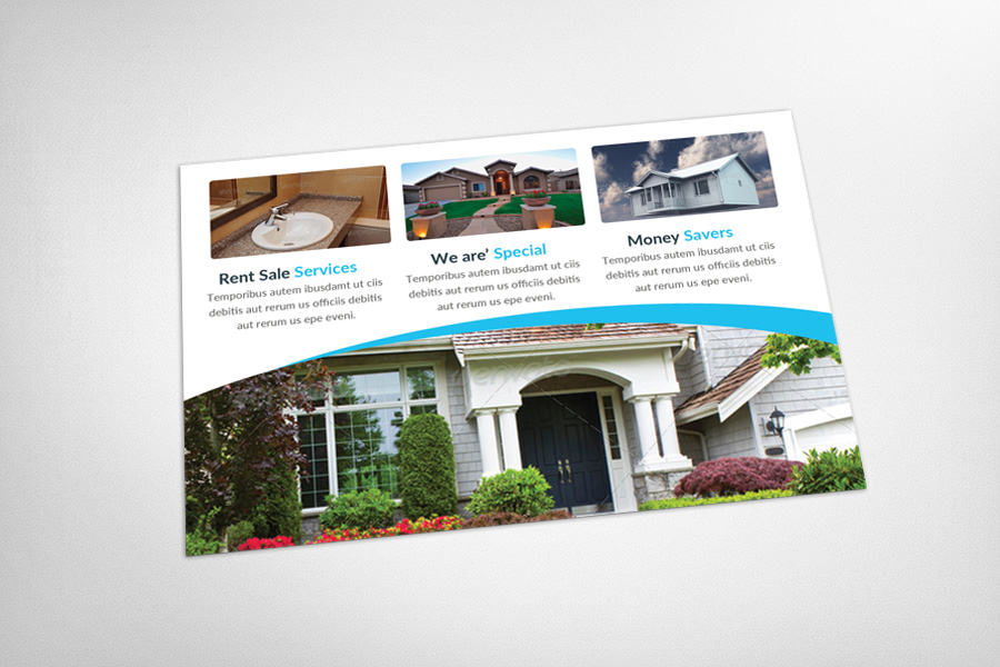 Coastal Real Estate Postcard Template example image 3