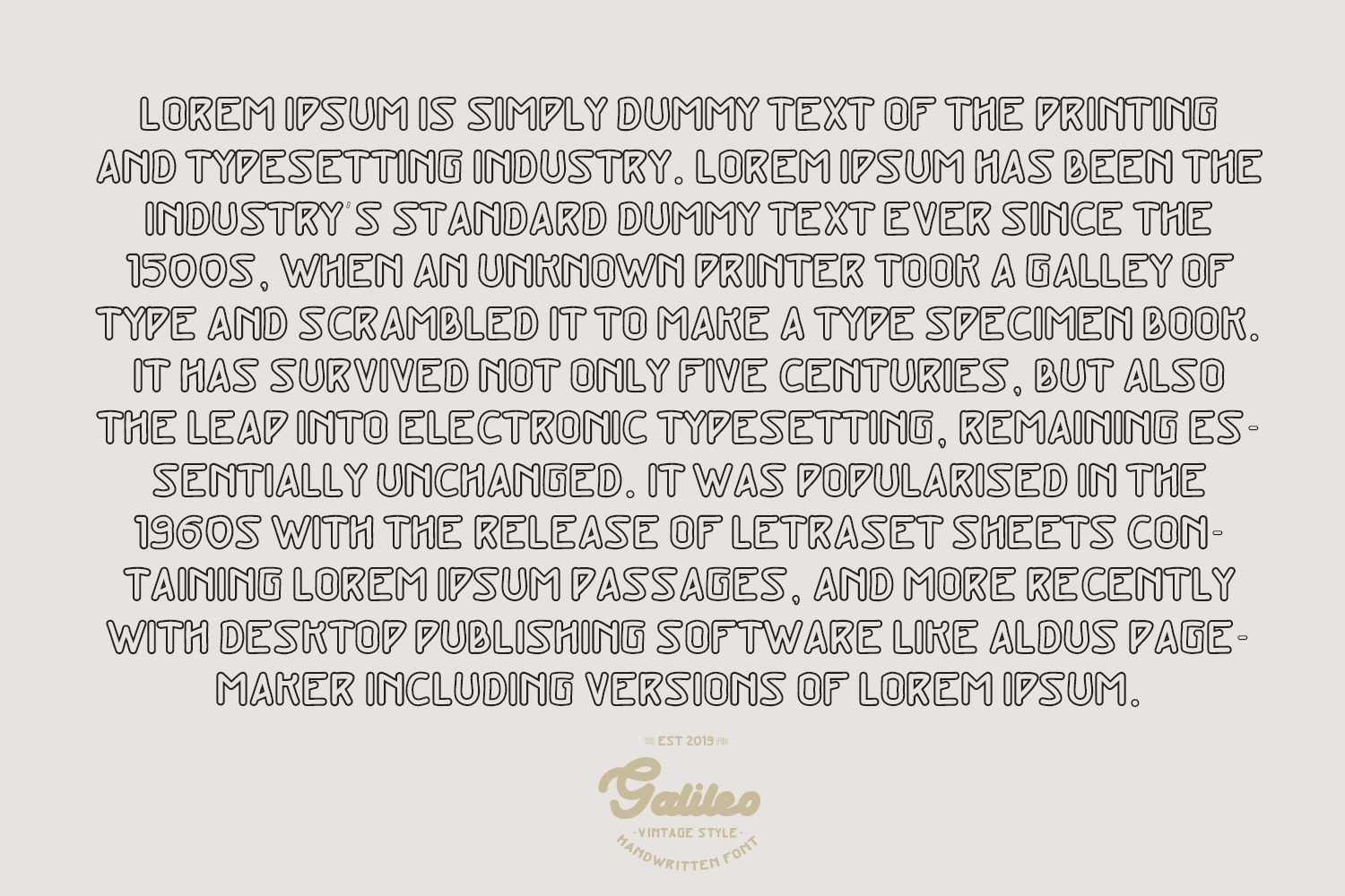 Galileo - Vintage Style - Font Duo example image 9