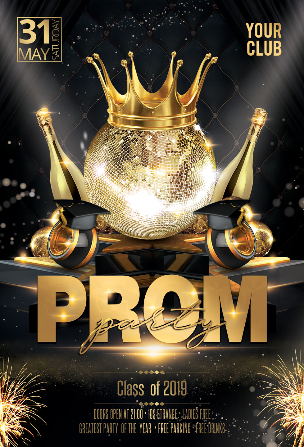 Prom Party Flyer example image 3