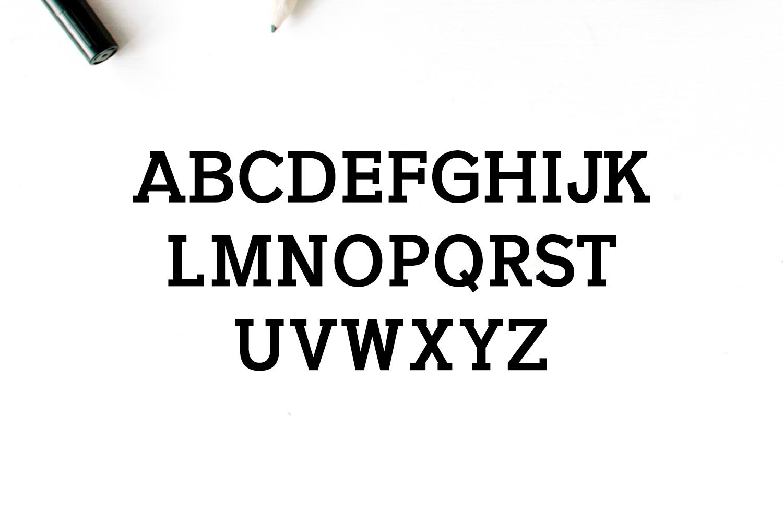 Naava A Slab Serif Typeface example image 3