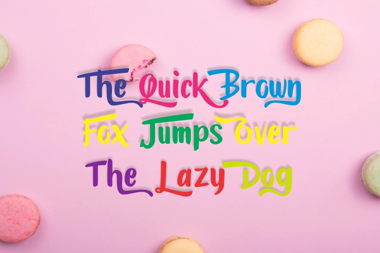 Candylove - Playful hand lettering brush font example image 3