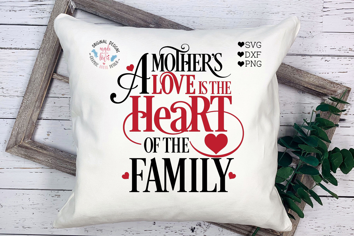 Mother's Day SVG - A mother's Love is the Heart example image 1