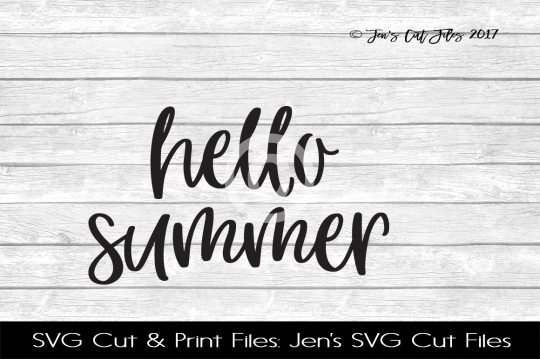 Hello Summer SVG Cut File example image 1