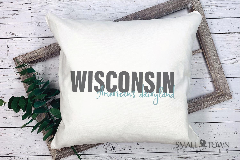 Wisconsin, America's Dairyland, Logo, PRINT, CUT & DESIGN example image 5