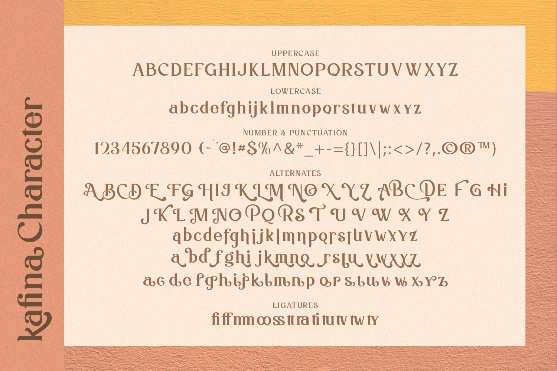 Kafina Modern Serif Font example image 7