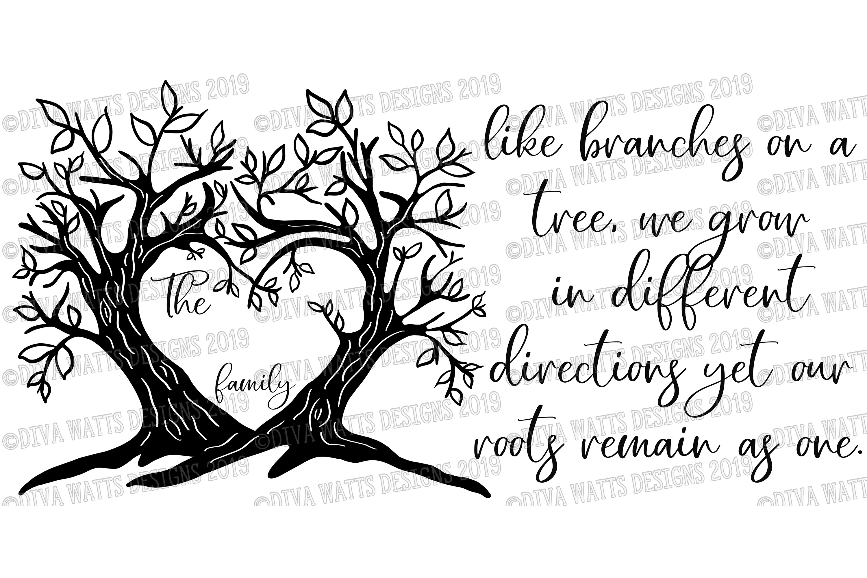 Branches on a Tree Family Last Name Sign Cutting File example image 3