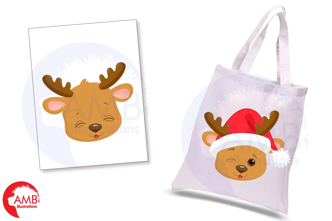 Reindeer clipart, reindeer emojis, emoticons,AMB-2696 example image 5