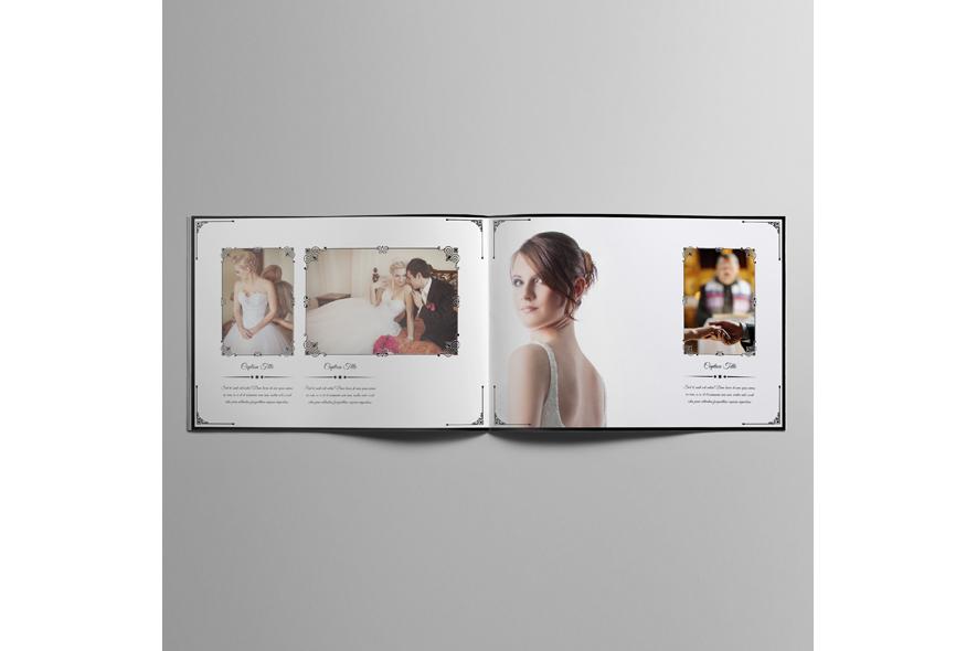 Wedding Photobook Template A4 Landscape V1 example image 6