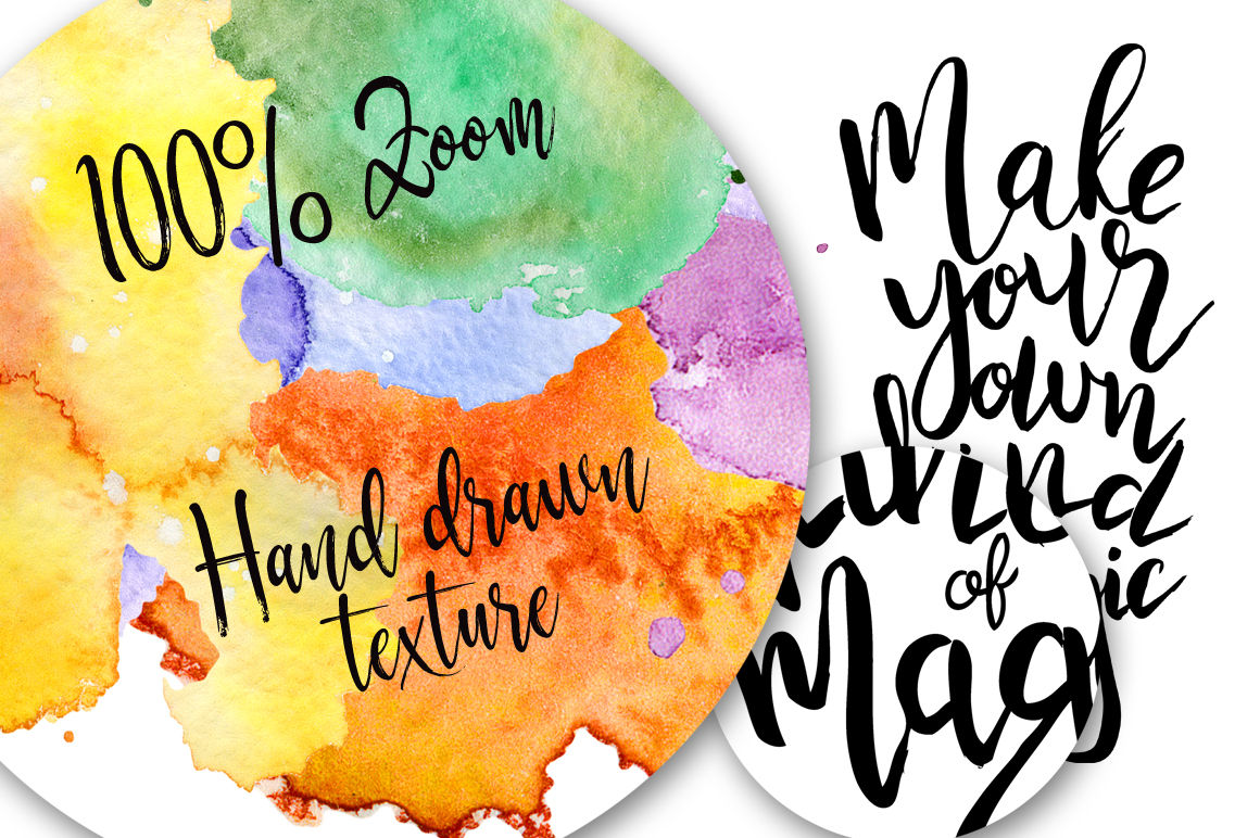 Hand drawn watercolor Inspirational quotes DIY pack example image 12
