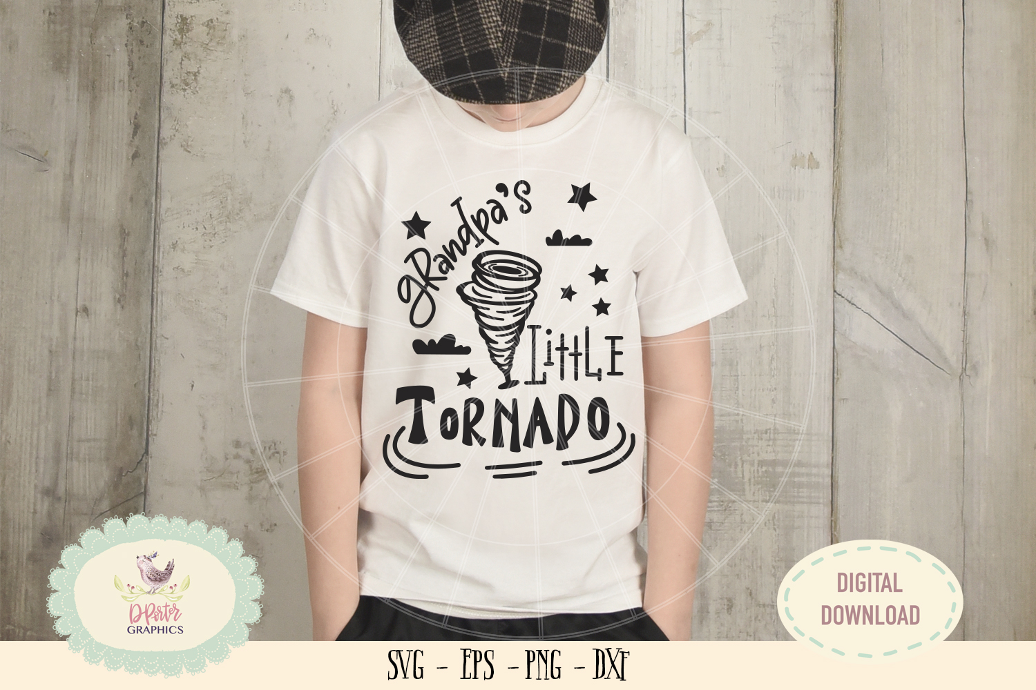 Grandpa little tornado SVG cut file fathers day svg example image 2
