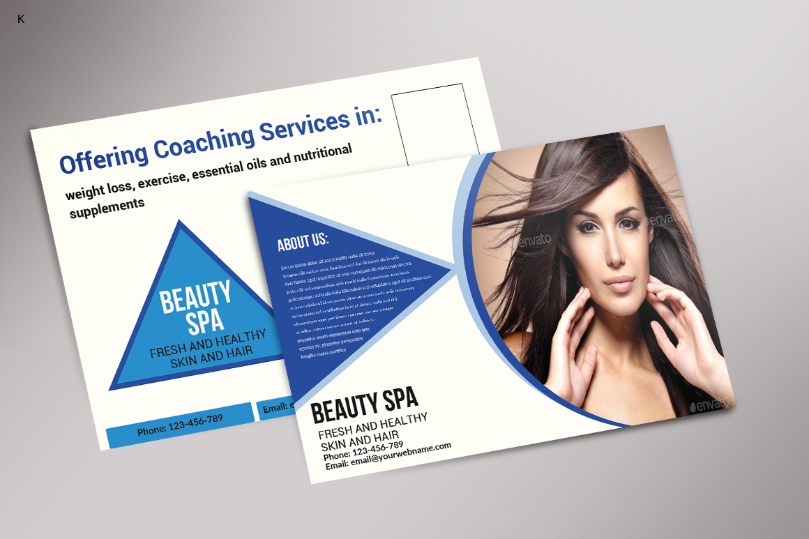 Beauty Spa Post Card example image 3