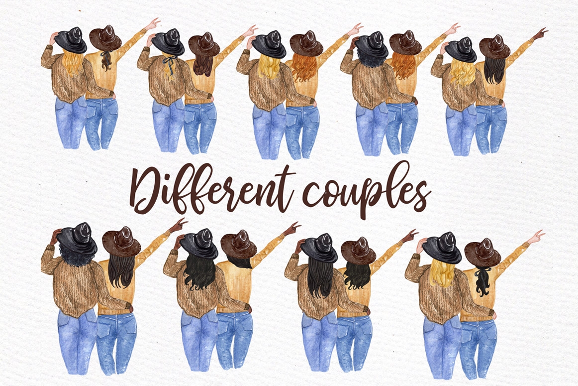 Best Friends Clipart, SOUL SISTERS CLIPART, Bff clipart example image 3