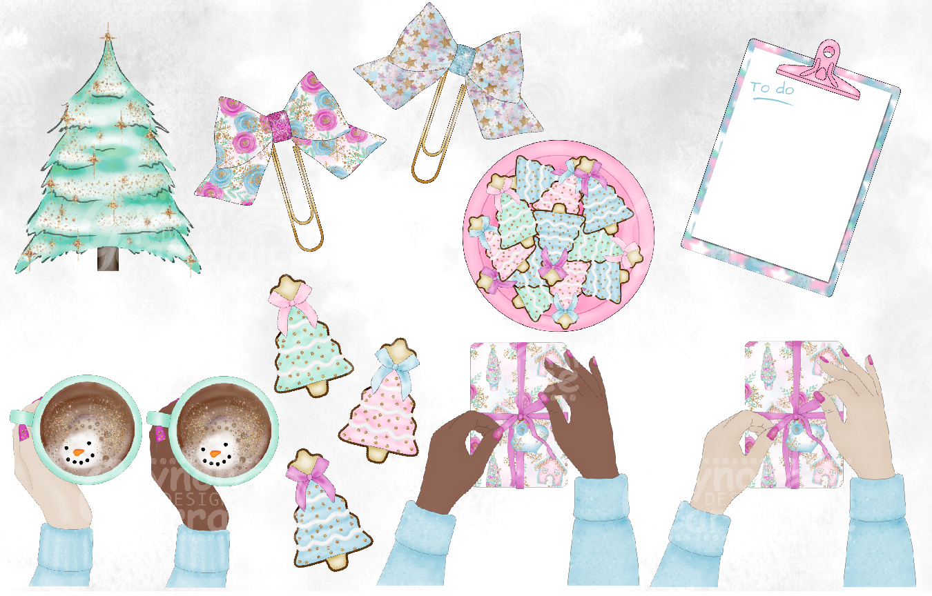 Sweet Christmas - Christmas planner Clipart example image 3