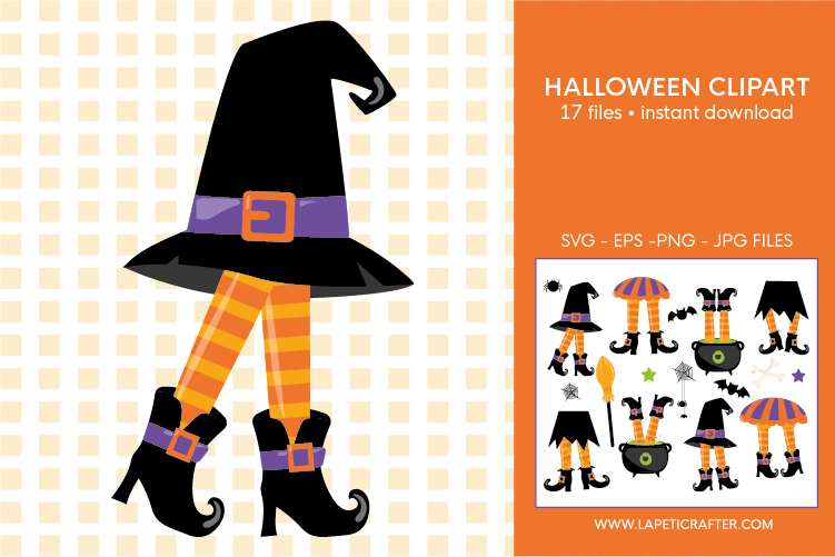 Halloween witch legs clipart, wicked witch party decorations example image 5