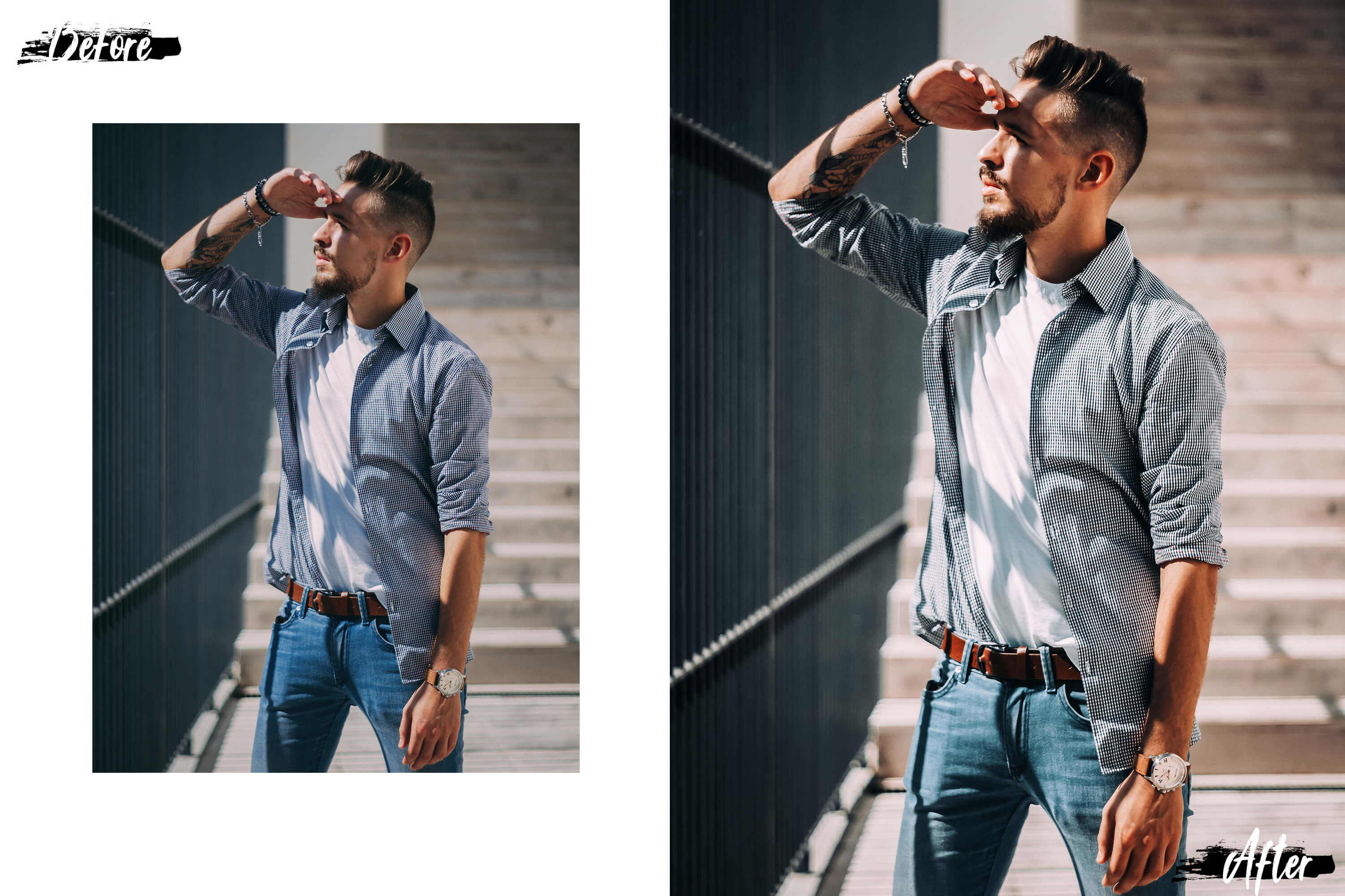 05 Gentleman Photoshop Actions, ACR and LUT presets example image 9