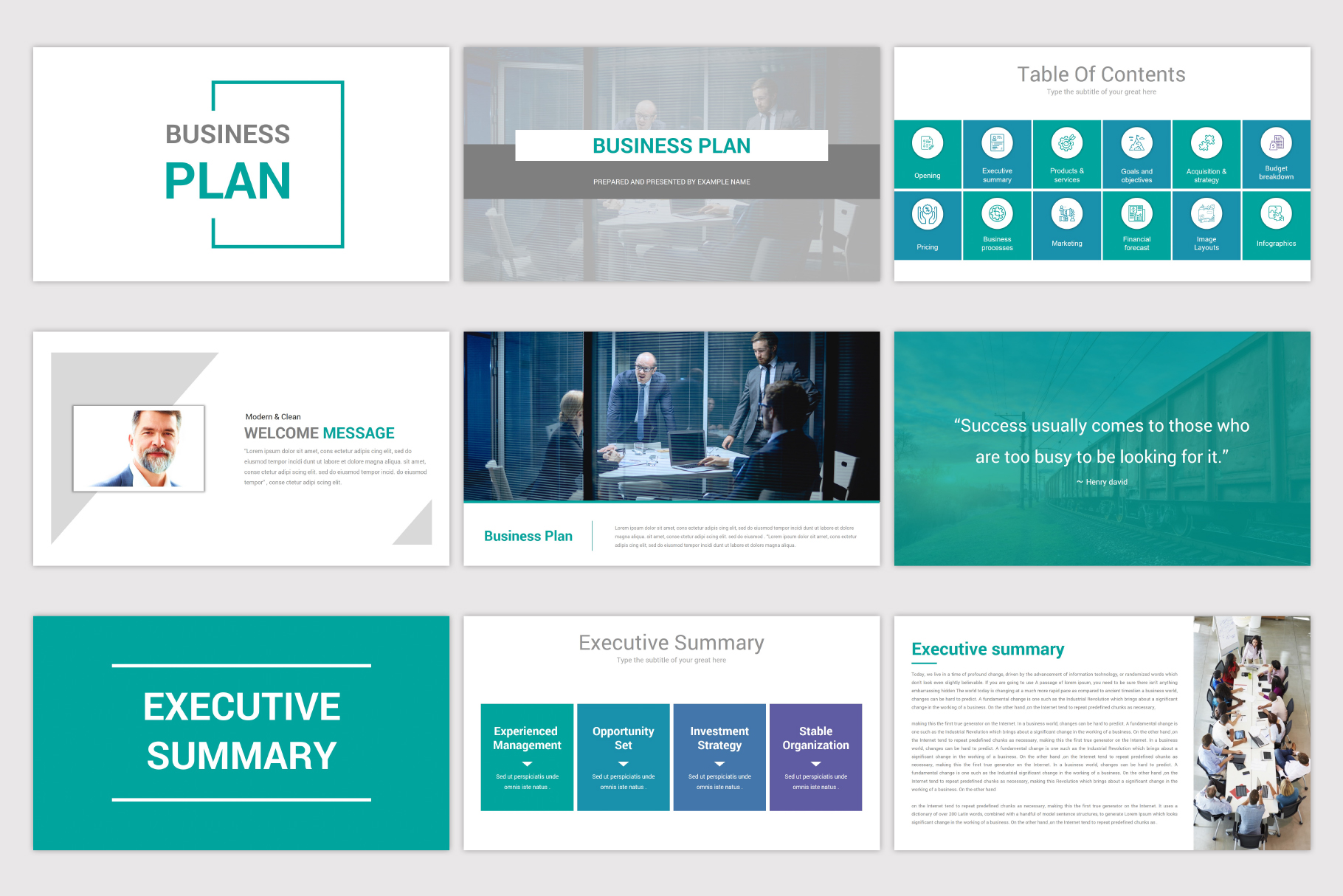 Business Plan Keynote Template example image 4