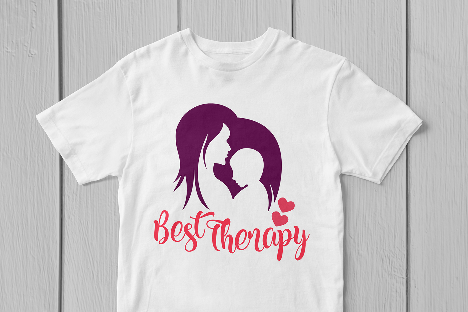 Best Therapy Mom's Love - Mother SVG EPS DXF PNG Cut Files example image 3