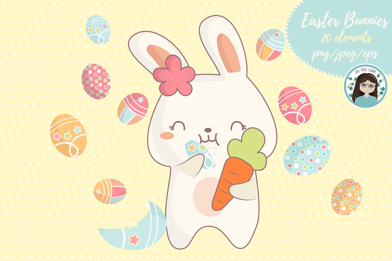 Cute kawaii bunnies example image 5