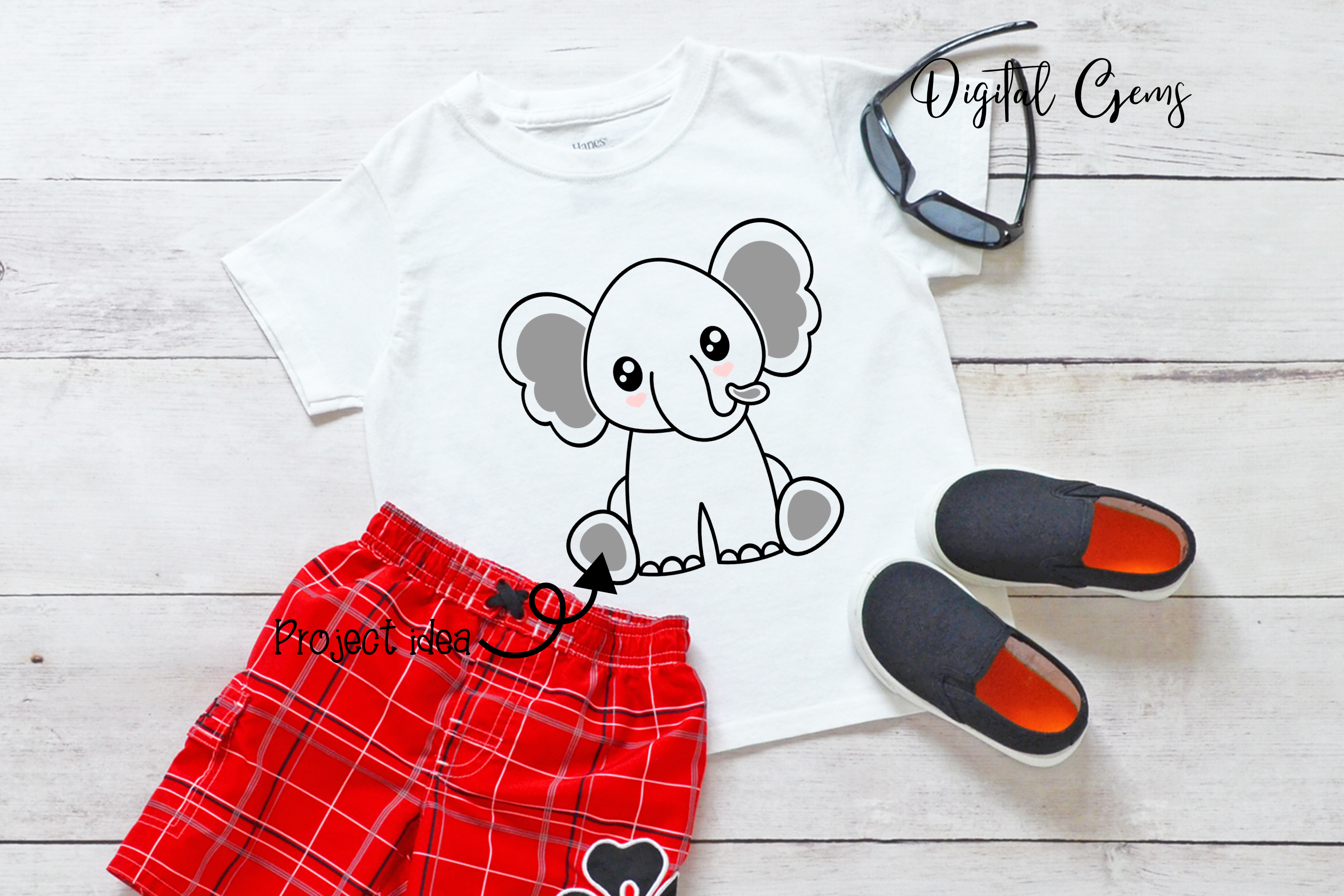 Elephant design SVG / DXF / EPS / PNG files example image 2