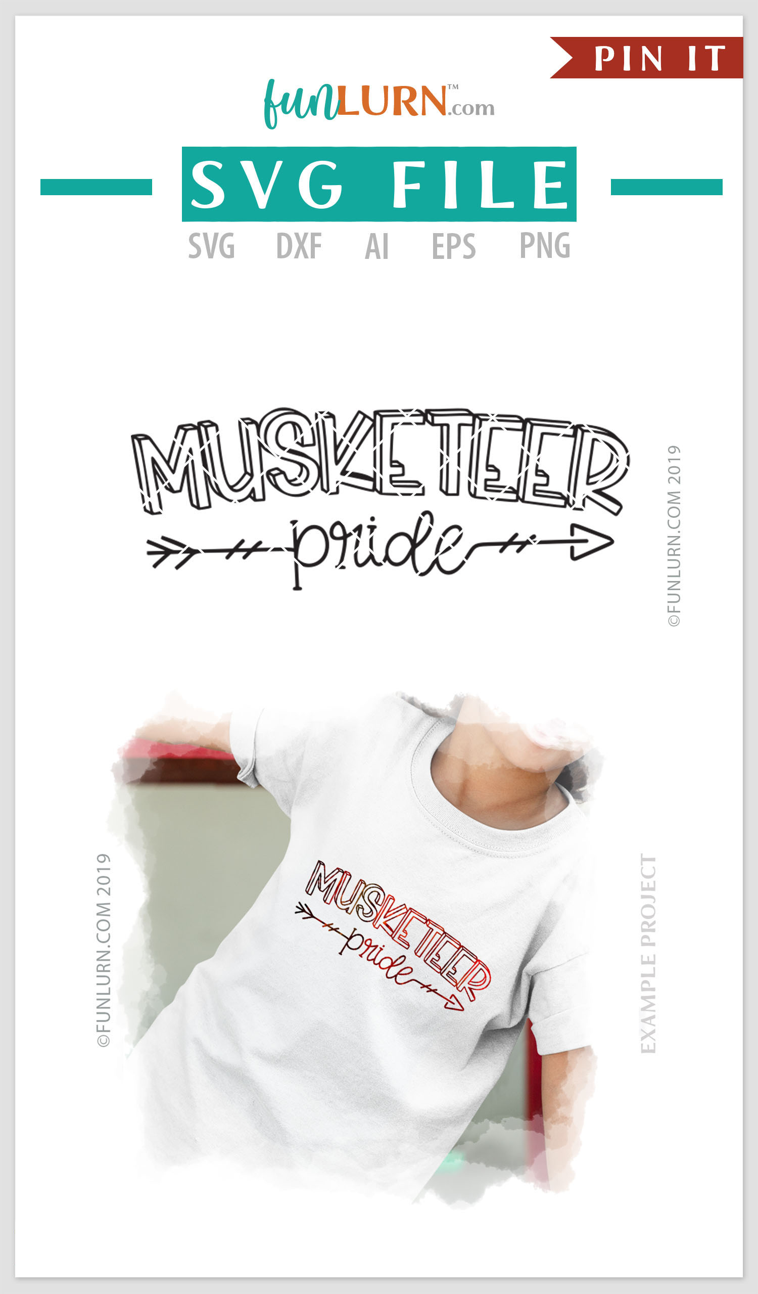 Musketeer Pride Team SVG Cut File example image 4