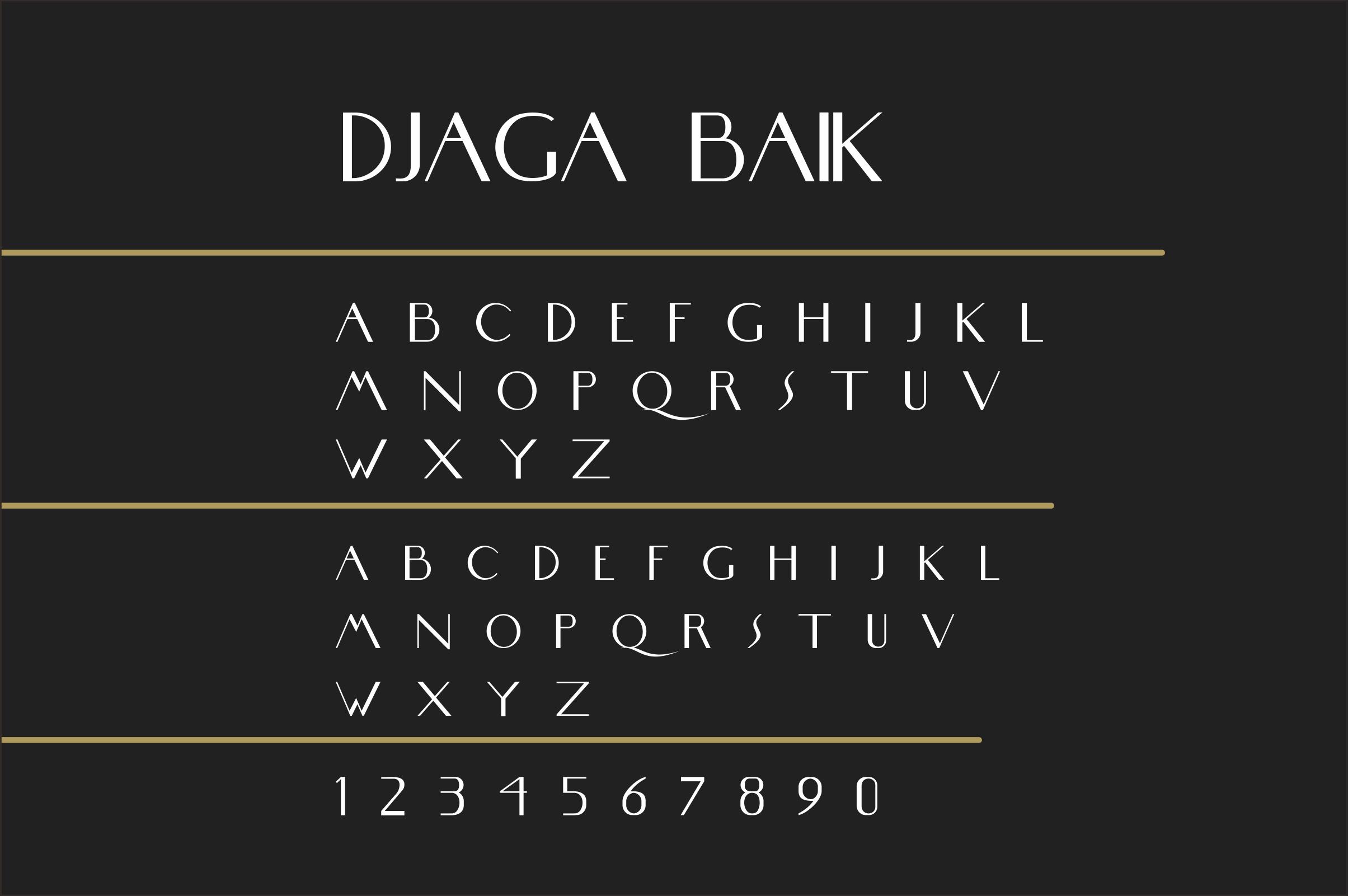 DJaga Baik (A classy Grotesque Sans) example image 2